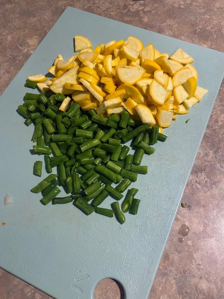 more chopped veg