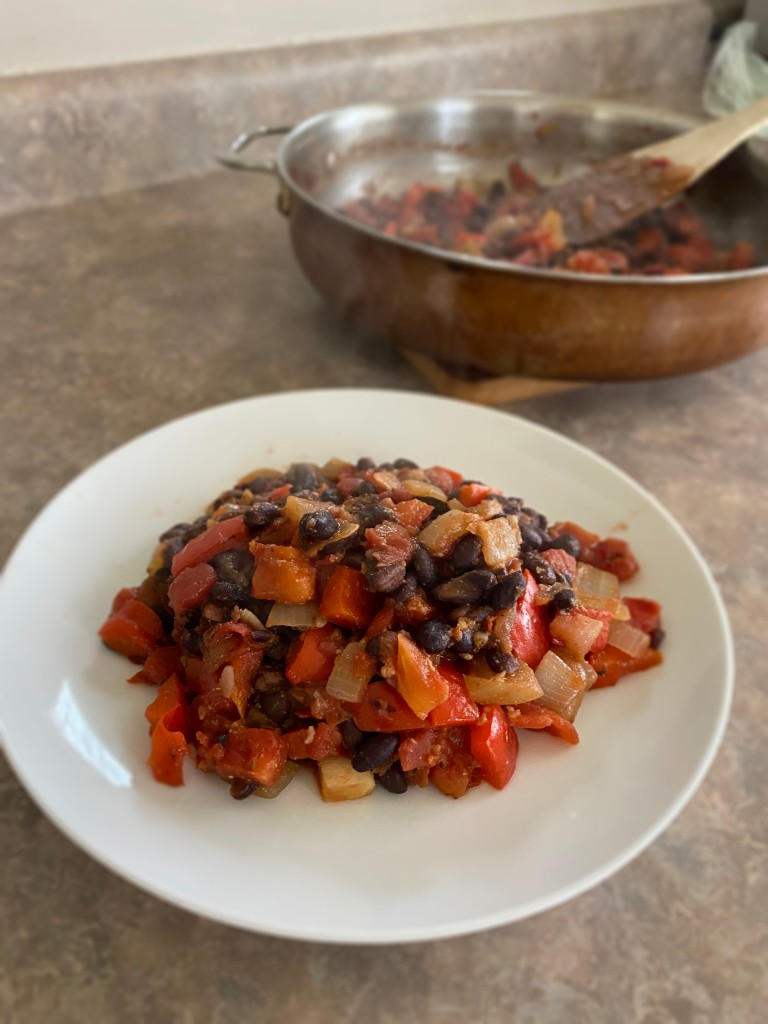 Cooked black beans